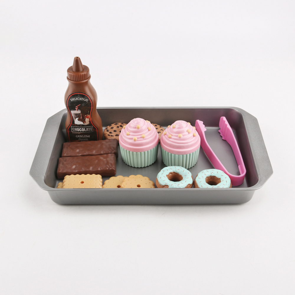 16pcs simulation sweets play set pretend play toys educational kid kitchen set fun miniature toys for children in kitchen toys from toys hobbies on