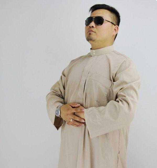 Мужская Кафтан Мужчины Исламский Абая Халаты Джубба Тобе Мусульманских Ислам Одежда Одежда Мусульманских Мужчин платье мужская Футболки 2902