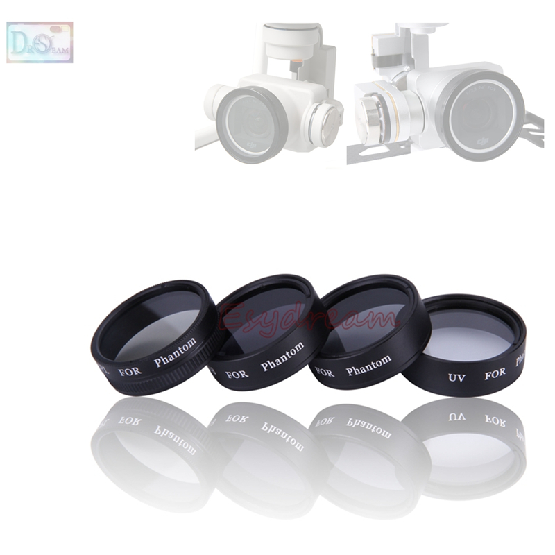 Neutral Density ND4 ND8 UV CPL Lens Filter for DJI Phantom 4 Phantom 3 Pro Professional
