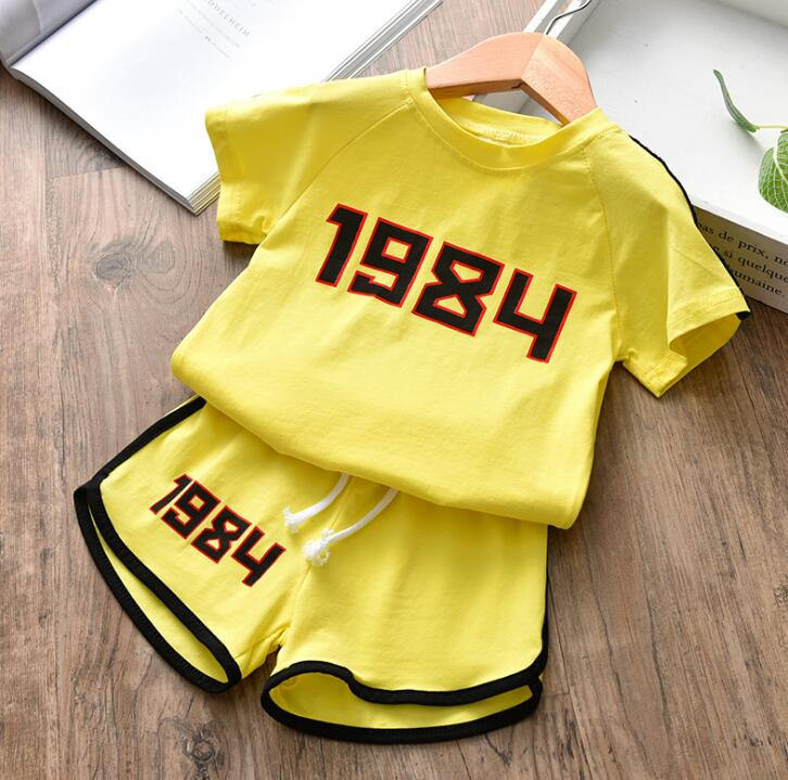 Children's Clothing T-Shirt Shorts-Suit Girls Boys Summer Letter Batch of And And