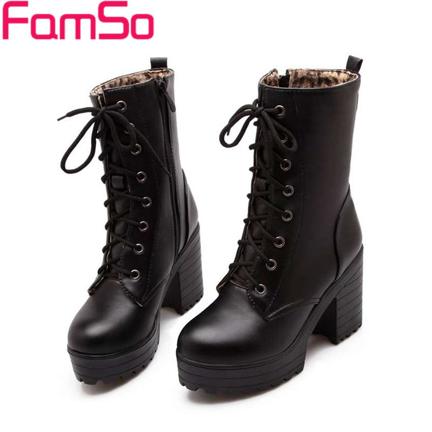Plus Size34 43 2016 New Sexy font b Women b font Boots High Heels Ankle Boots