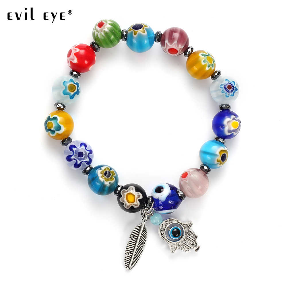 EVIL EYE High Quality Free shipping New Fashion Stone Charm colorful beads Bracelet with blue eyes Gift for Women man EY5078