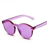 2018 Yeni Güzel Şeker Şeffaf renkli lens Çerçeve Kadın Güneş Gözlüğü Marka Tasarımcısı Kadın güneş gözlüğü Lüks Oculos