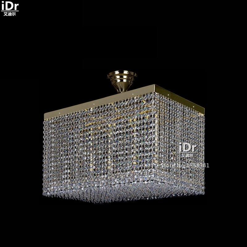 все цены на Square fashion personality crystal lamp modern living room Terrace Hotel Ceiling Lights 90-260V Luxury lamp high quality