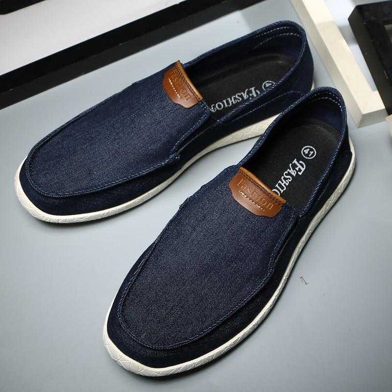 Lona Caqui Azul Perezosos Para Moda Mocasines Hombre La Suela Hombres Goma Blue Calzado Antideslizante Los Zapatos De khaki gray Cómodos dw0ZxYd