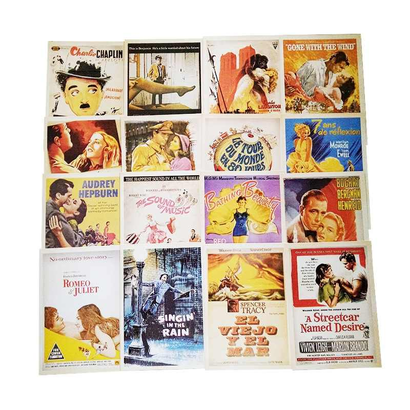 32 Pcs/pack Vintage Style Movie Stars Poster Drawing Post Card Set Christmas Card Gift Postcards Greeting Cards