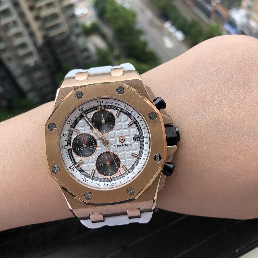DIDUN montre hommes mode Sport Quartz horloge hommes montres Top marque luxe chronographe montre pleine acier montre étanche