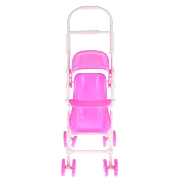 Baby Stroller Infant pink Carriage Stroller Trolley Nursery Toy For Doll Dollhouse Miniature Baby Gifts for Baby Girls