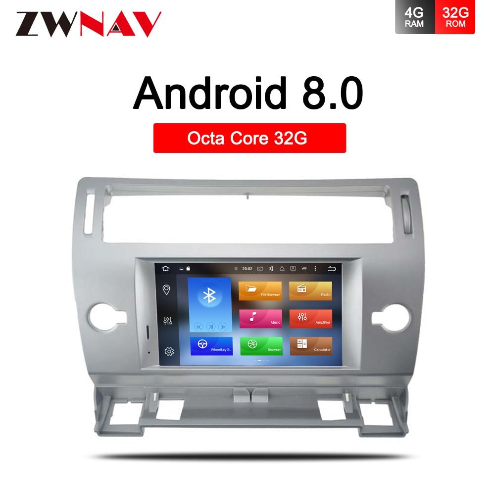 4 32G Android 9 0 Car GPS dvd stereo for Citroen C4 Quatre Triumph 2004 2012