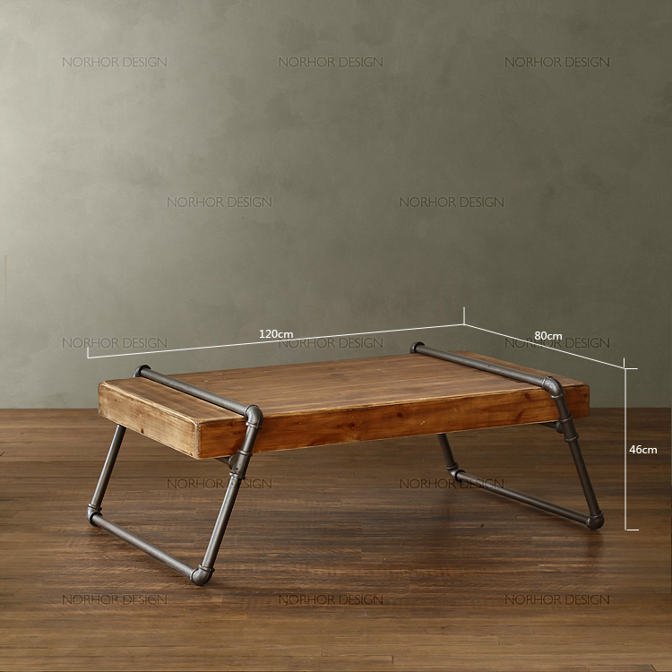Gentil Nordic Expression / Retro Mining / Wood Furniture / Wood Carter Iron Pipe / Coffee  Table / Coffee Table American