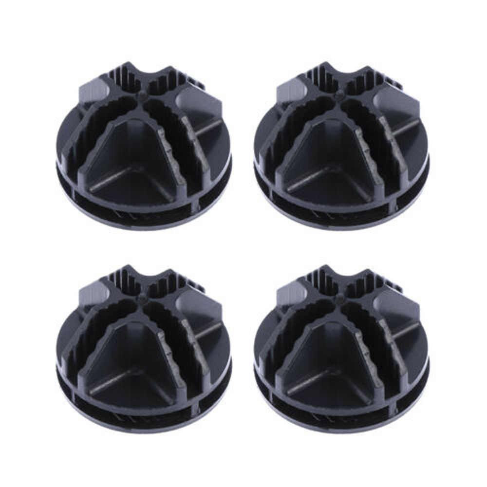 20 шт. провода куб Разъемы аксессуары черный угол ABS пластиковые полки для хранения модульный Органайзер застежка зажим защелка