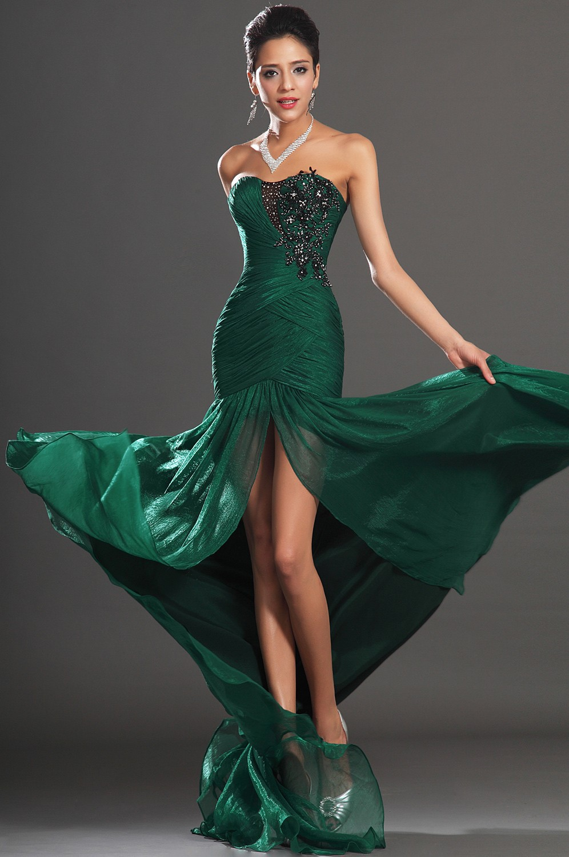 Vestido Longo Verde Emeraid Green Evening Dress Long Party Gowns ...