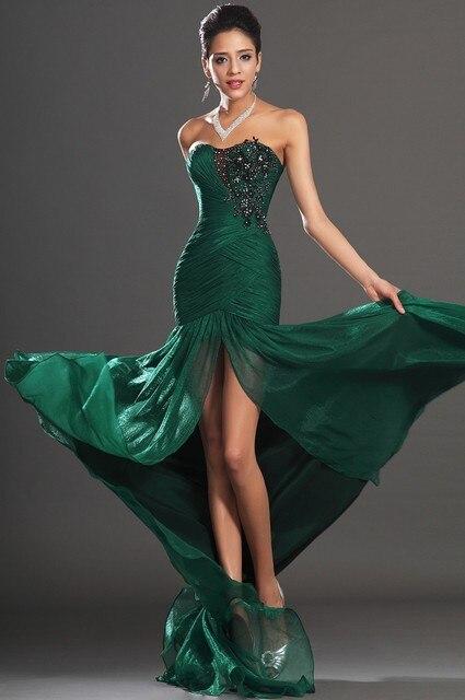 90a37d456 Vestido Longo Verde Emeraid Green Evening Dress Long Party Gowns Vestido  Para Festa Hot Sale Custom Made
