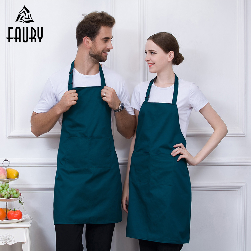 6 Color Wholesale Food Service Chef Workwear Adjustable Halter Neck BBQ Apron Restaurant Bakery Hotel Waiter Cook Work Uniform