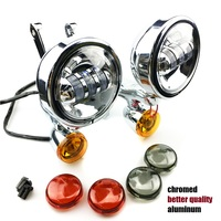 Auxiliary Lighting Brackets spotlight with turn signals For Harley Touring Street Electra Glide 06 13 harley Auxiliary fog light