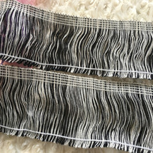 (5 yards/lot) black and white trimming width is 2.8 inches zakka decorative tassels trims fringe DIY handmade new