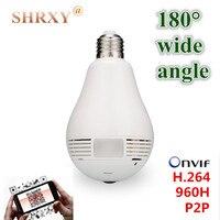 180 Wide Angle Fisheye Security IP Camera Wireless Mini CCTV Camera Bulb Camera Wifi 720P Night