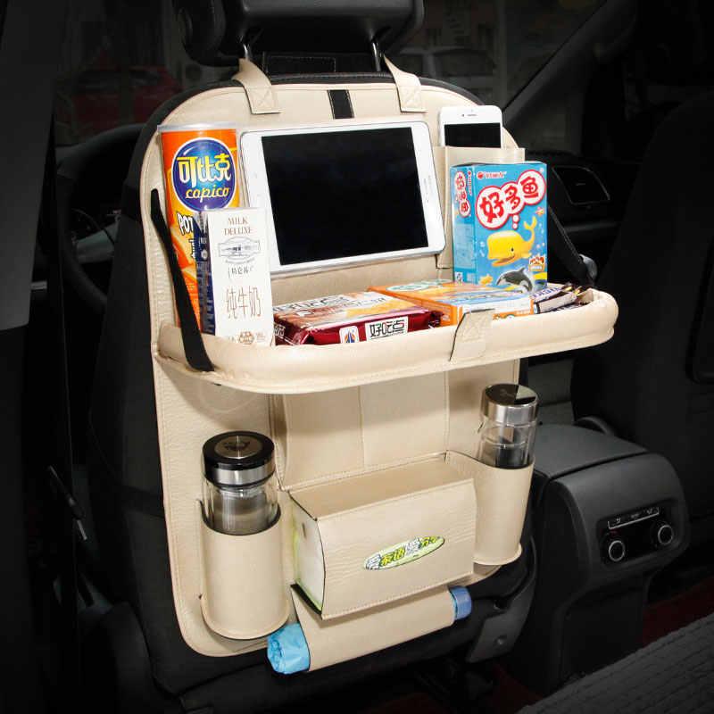 Kulit Kursi Mobil Kembali Tas Penyimpanan auto Organizer Kantong Lipat Tergantung pemegang untuk Kia mohave niro picanto spectra optima venga