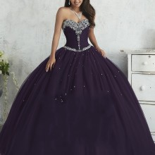 Темно-зеленые фиолетовые Бальные платья для 15 лет пышные Вечерние платья из тюля с кристаллами и корсетом Vestidos De 15 Anos