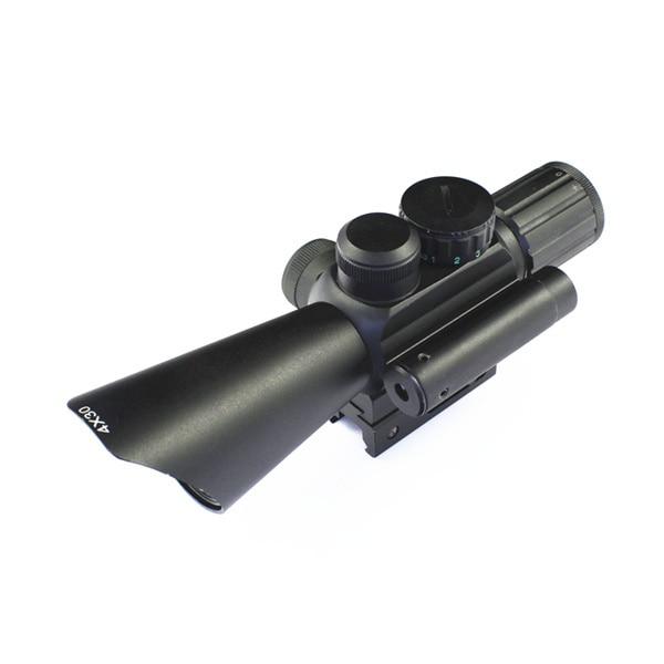 SPIKE 4x30 optics rifle scope hunting optical sight with red dot laser sight for airsoft air guns картины по номерам schipper картина по номерам триптих гербера фиолетовый 40х120 см