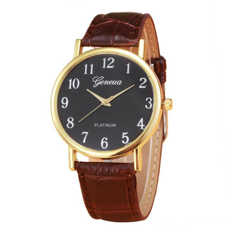 Fashion Retro Design Leather Band Business watch Modern Classic Analog Alloy Quartz Wrist Watch reloj mujer A2