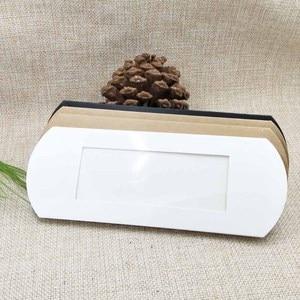Image 2 - Lot başına 50 adet 16*7*2.4 cm beyaz/kraft/siyah yastık ambalaj kutusu şeker şekeri /hediyeler/ürünler ekran ambalaj açık pencere kutusu