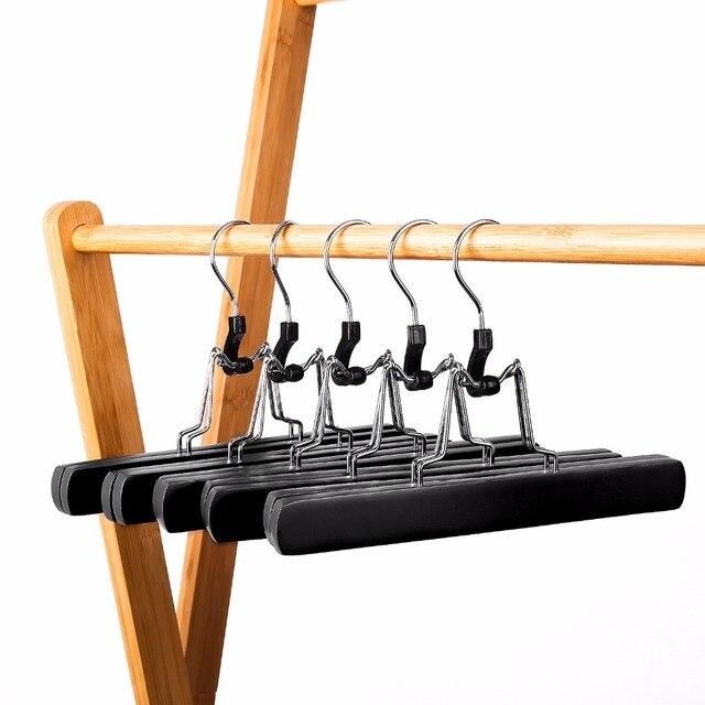 Hangerlink-cintres solides en bois | Cintre de Collection antidérapant pour pantalon, jupe et pantalon, cintre dextension de cheveux (12 pièces)