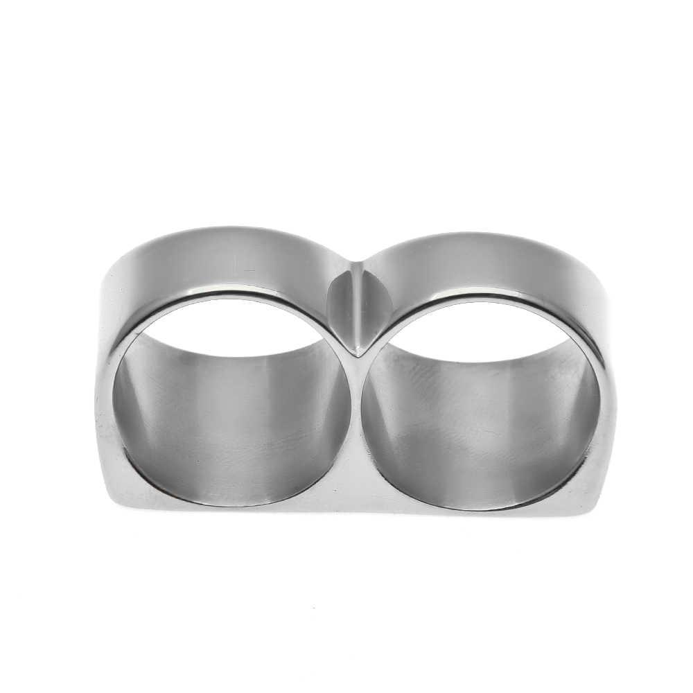 永久色保護人気新鋼 2 指輪ステンレス鋼リング男性 & 女性パーティークールリング