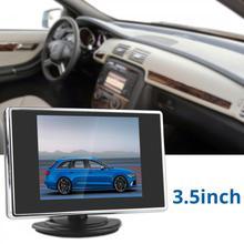 3.5 Pollici 12 V LCD TFT A Colori Car Monitor Auto di Parcheggio di Rearview Reverse Backup Monitor con 2-Canale Video ingresso