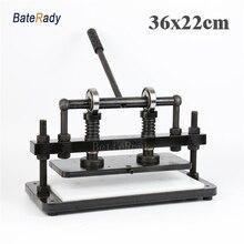 36×22 см двойное колесо плюс ручной кожаный станок для резки, BateRady фотобумага, ПВХ лист резак, кожа высечки
