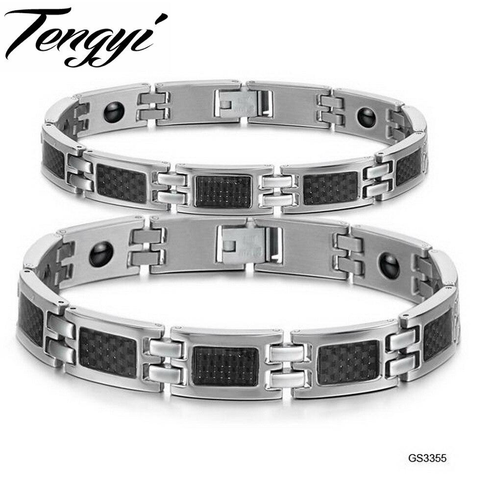 GELS Warehouse super deal New design Fashion bracelet Health Magnetic Bracelet health care function balance energe TS3355G