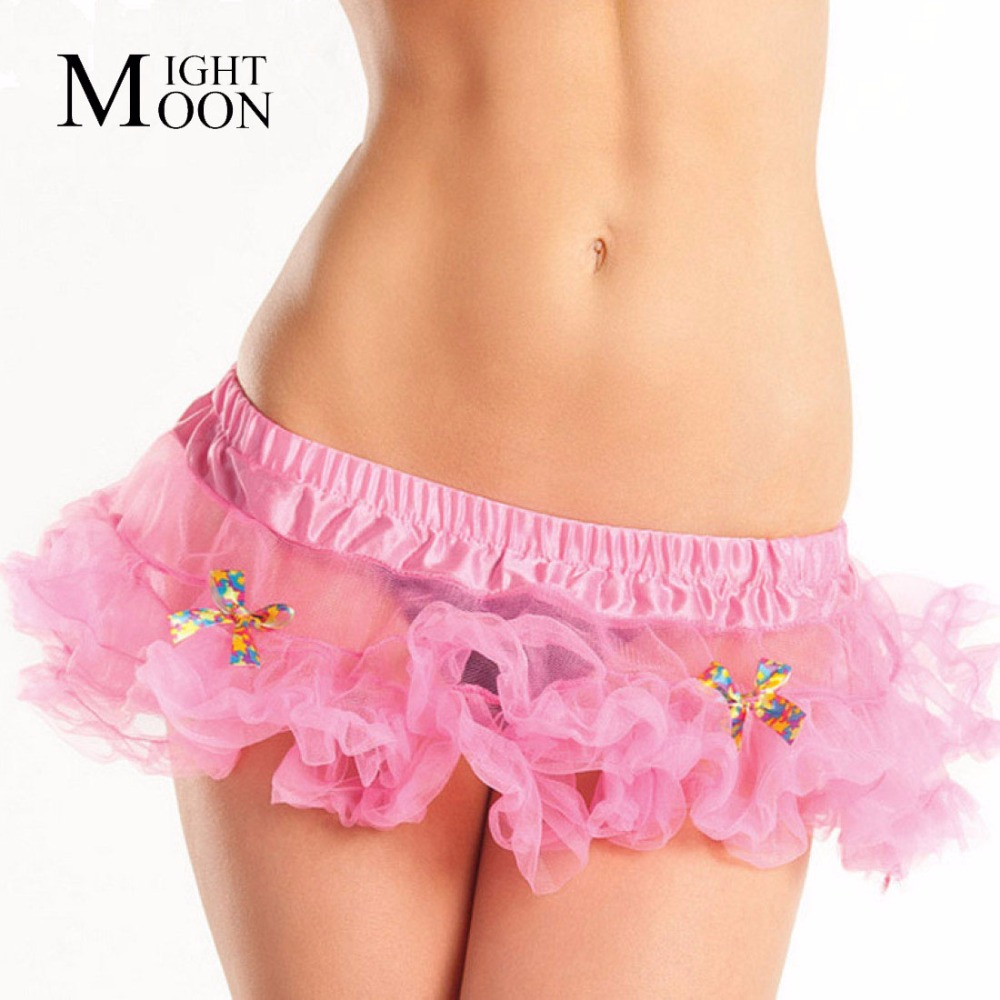MOONIGHT Belly Dance Wear Clothing Skrit Women's Sexy Mini Tutu Skirt Pettiskirt Ladies Petticoat Kilt Belly Dance Tulle Skirts