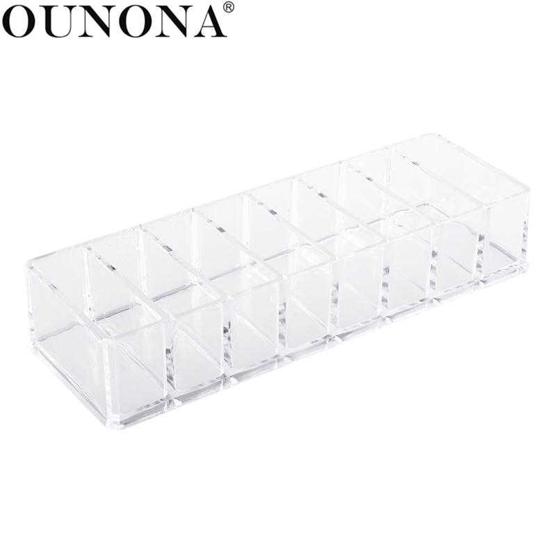 Acrylic Eyeshadow Organizer Acrylic Lipstick Holder Cosmetic Storage Box Makeup Organizer Sundries Display Box