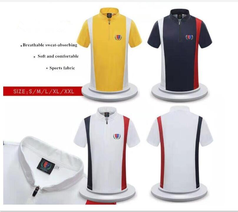 2019 vêtements de sport de golf pour enfants garçons et filles printemps été T-shirt à manches courtes col montant respirant chemises à séchage rapide