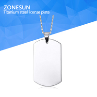 Stainless Steel Silver Blank Dog Tag Pendant Husband Wife Friendship Gift Personalized Necklace