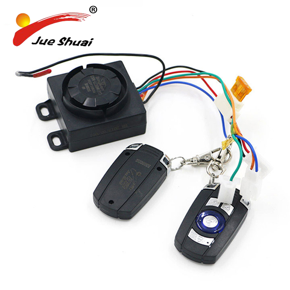 Dual Remote Key Control Motorcycle Alarm Security System Motorcycle Theft Protection Bike E Scooter Motor Alarm System