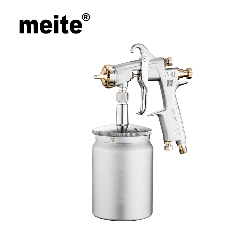 Meite MT-W101-132S in 1.3mm nozzle paint spray gun suction type mid spray gun hvlp with 600CC cup Jan.10 update tool tefal k 0910204 talent