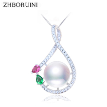 ZHBORUINI High Quality Pearl Necklace Pendants Natural Freshwater Pearls  925 Sterling Silver For Women Gift Wholesale