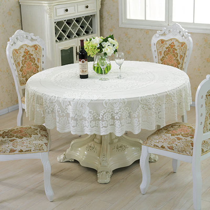 Aliexpress Com Buy Pastoral Style Lace Peony Floral Home Decor Hotel Dining Table Cloth Round Tablecloth Tea Table Covers Wedding Party Tablecloths From
