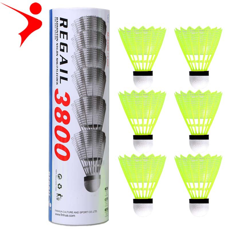 6PCS Durable Light Badminton Ball Wool Nylon Special Competition Training For Students Flight Stable Toughness Good