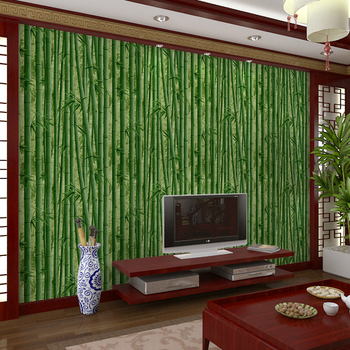 3D Bamboo Wallpaper Restaurant, Tea House Hotel, Passage Hall, TV Background Classical Chinese Style Wall Papers Home Decor