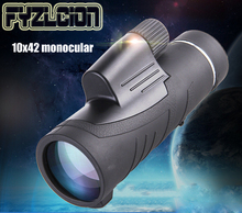 лучшая цена 10X42 Monocular Telescope Wide-angle Handheld High-powered Monocular Portable Outdoor Low-light Night Vision