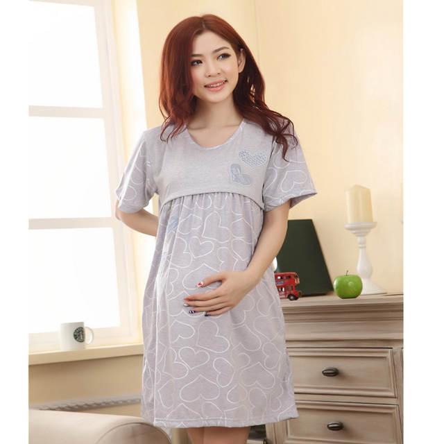 8df964fe9 placeholder Casa de maternidade Amamentação camisola pijamas Roupas de  Enfermagem camisola maternidade-vestido para as mães