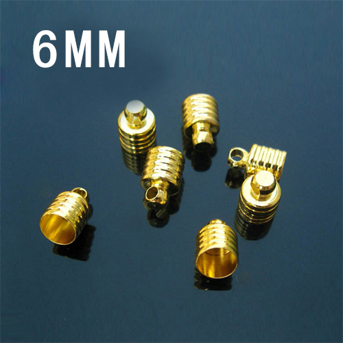 25PCS 6MM METAL CAPS GOLD-PLATED,JEWELRY FINDING,6MM Glass Vials