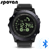 SPOVAN Fashion Men's Watch Bluetooth Sport LED Digital Watches 50m Waterproof PU band Stopwatch Men wristwatch Relogio Feminino
