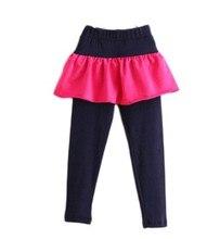 Spring Autumn Girls Leggings Dot Skirt Legging For Kids Cotton Children Pants Baby Tutu Legins Toddler Trousers