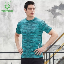 Workout Tops Men High QualityTraining tshirt Functional T-shirt Quick Dry Homme Shorts Sleeves Men T-Shirt Running Gym Fitness