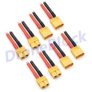 8 шт. XT60 разъем 12AWG штекер мягкий силиконовый провод кабель для RC Lipo батареи 40 мм силикагель