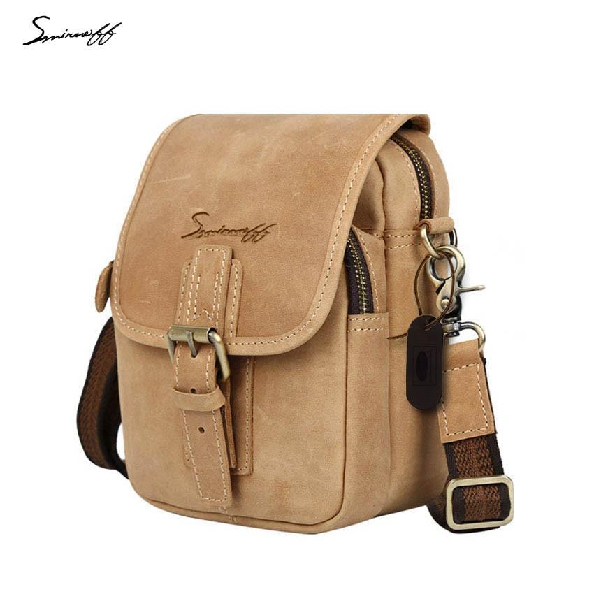 ФОТО SMIRNOFF 2017 designer handbags high quality small man messenger bag famous brand male Handbag leisure small bag male