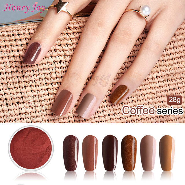 Very Fine 28g/Box Chocolate Color Easy To Use Dip Powder